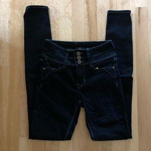 NWOT rampage high wasted skinny jeans dark wash 0